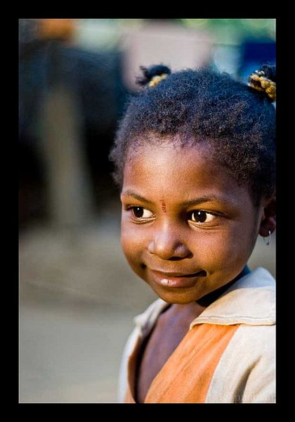 Siddi girl from Yellapur District, Karnataka, India