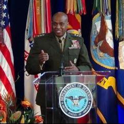 Lieutenant General Vincent R. Stewart, Director of Defense Intelligence Agency delivering his acceptance speech