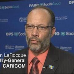 CARICOM Secretary-General Ambassador Irwin LaRocque at PAHO (Pan American Health Organisation) in Washington DC
